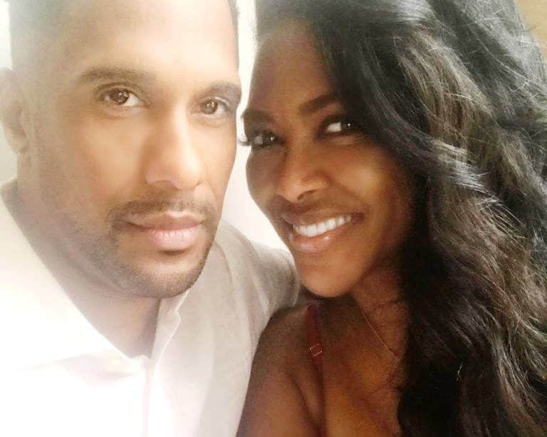 Kenya Moore selfie with husband Marc Daly