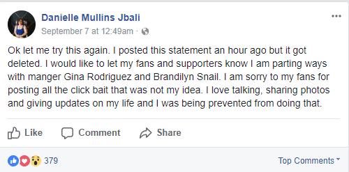 Danielle Mullins Facebook