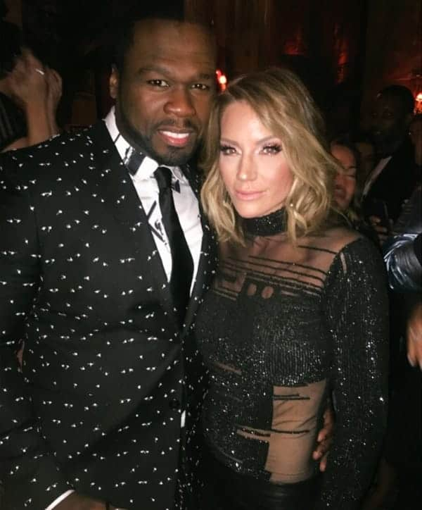 Cary Deuber and rapper 50 Cent