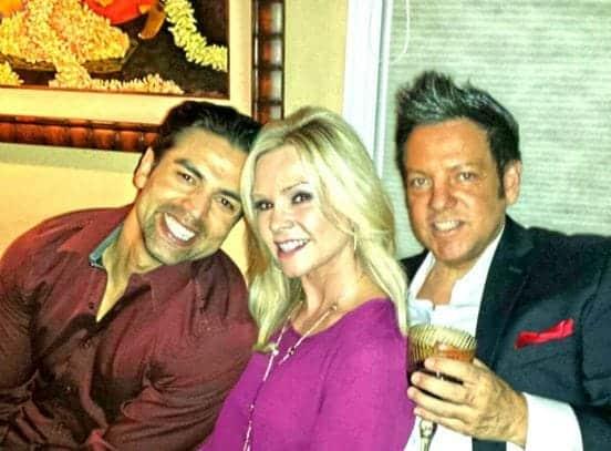Tamra Judge and Eddie Judge with Ricky Santana