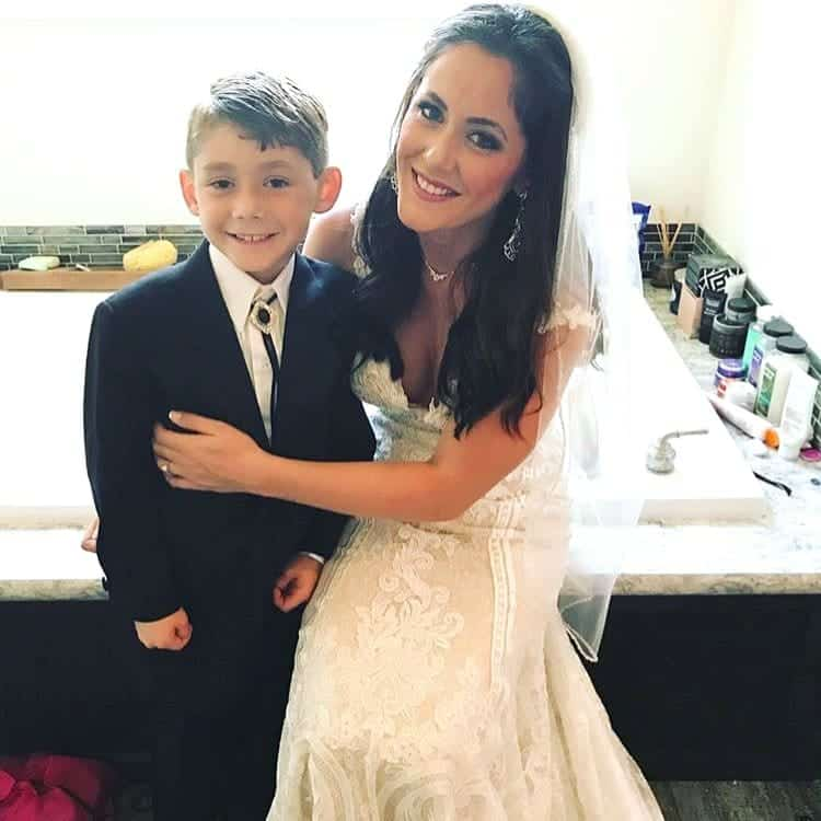 Jenelle Evans son Jace Evans wedding day