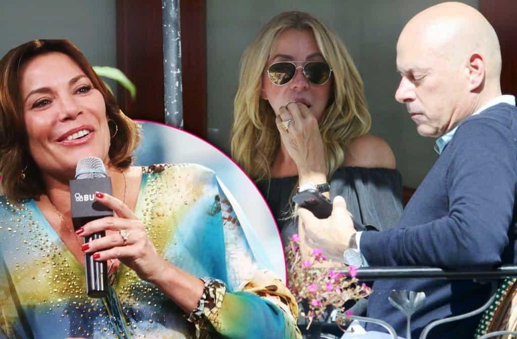 Luann de lesseps ex tom d'agostino and fiance anna ring