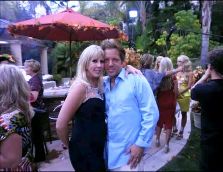Vicki Gunvalson with Ricky Santana
