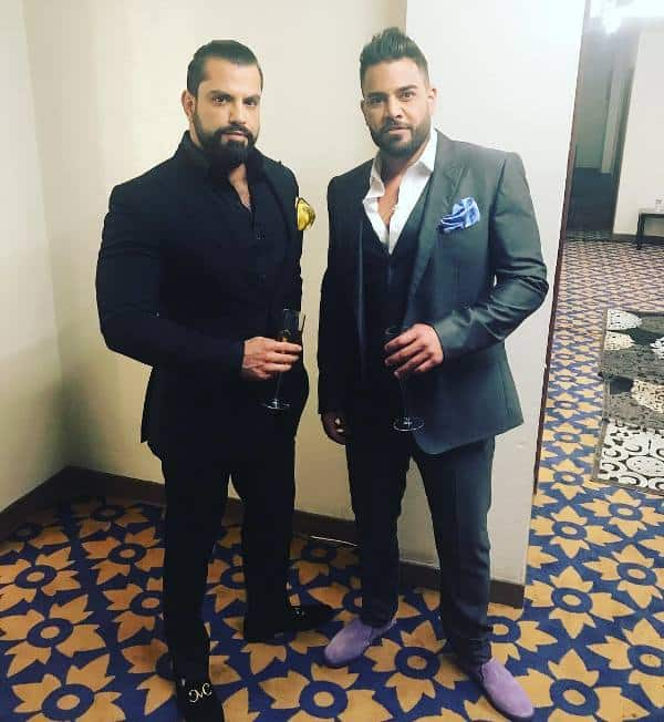 Shahs of Sunset's Mike Shouhed poses with costar Shervin Roohparvar