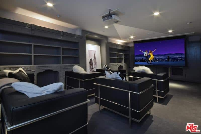 Kyle Richards and Mauricio Umansky home movie theater