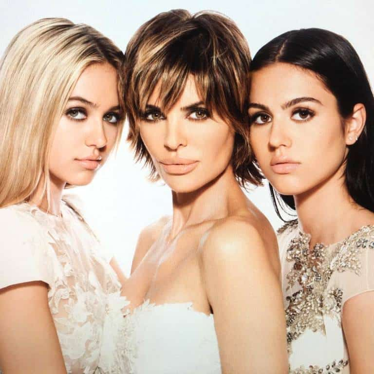 Lisa Rinna with Delilah and Amelia Hamlin