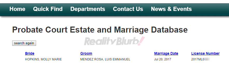 luis and molly marriage license