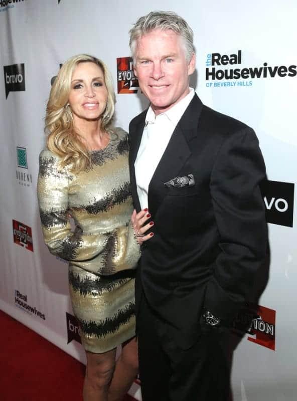 Camille Grammer fiance David C. Meyer rhobh season 8 premiere party