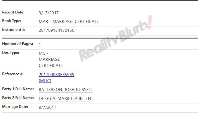 josh aika marriage license