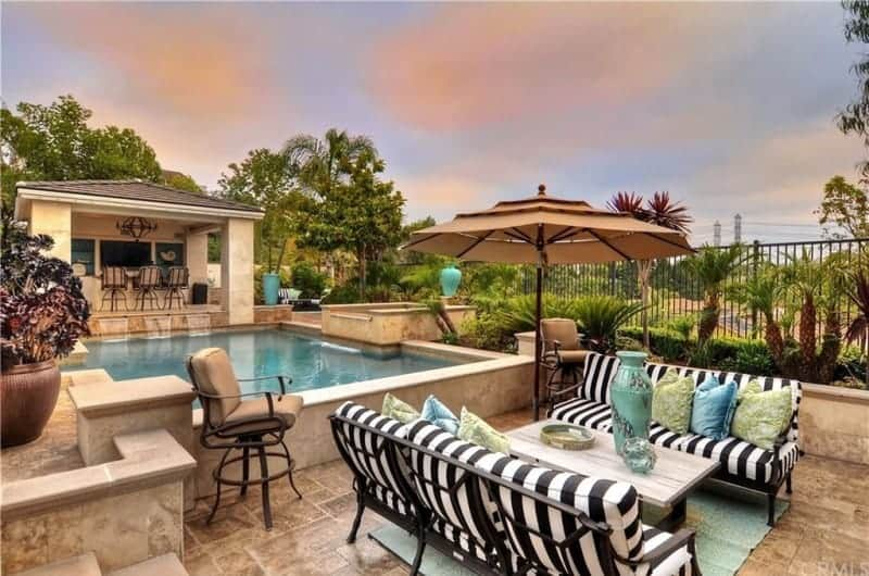 tamra home pool backyard