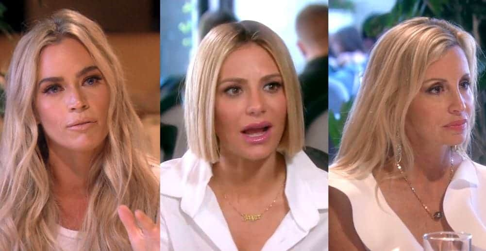 rhobh recap unfashionably late teddi dorit and camille