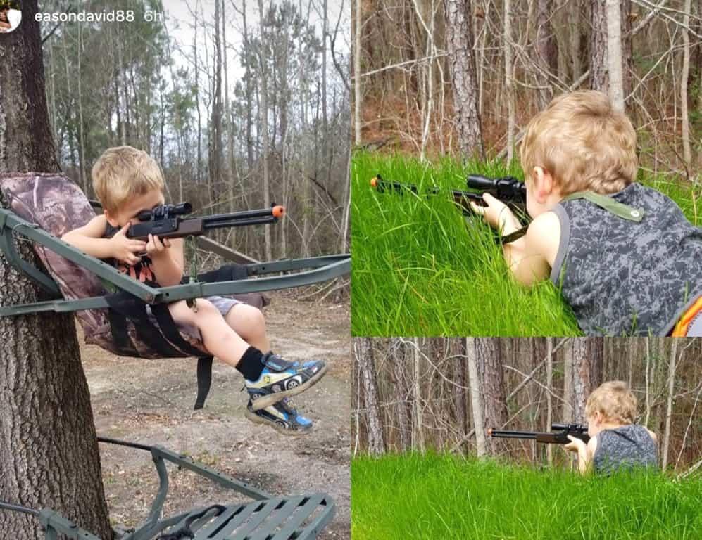 jenelle evans son kaiser shooting gun