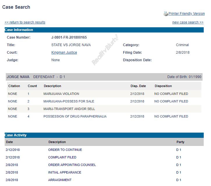 jorge arrest records
