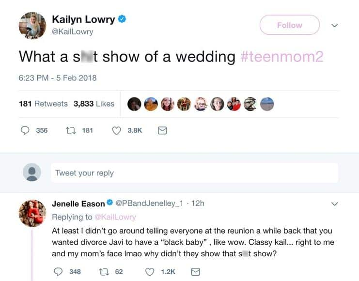 kail and jenelle twitter feud