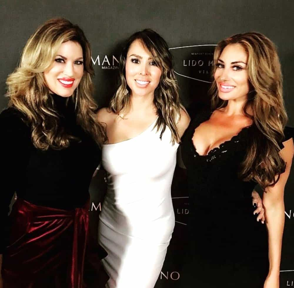 Emily Moore Simpson with kelly dodd and lizzie