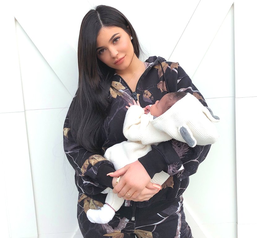 kylie jenner holding baby