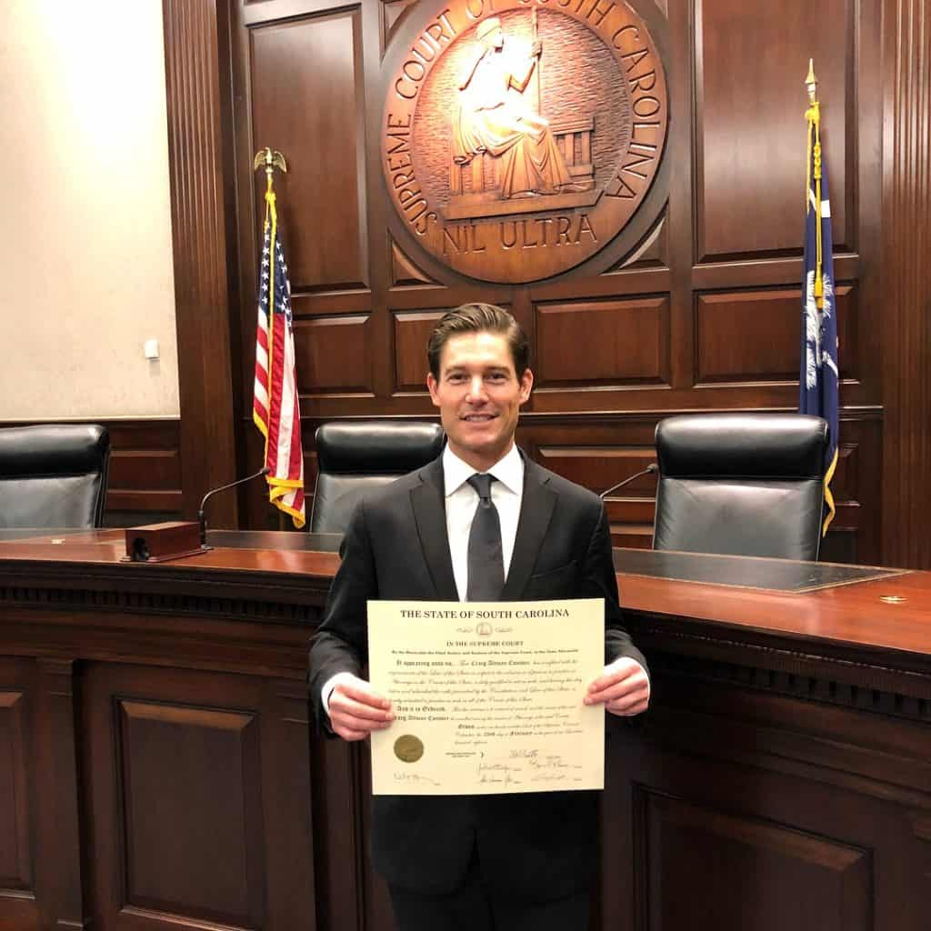 southern charm craig conover swearing into the S.C. Bar Association