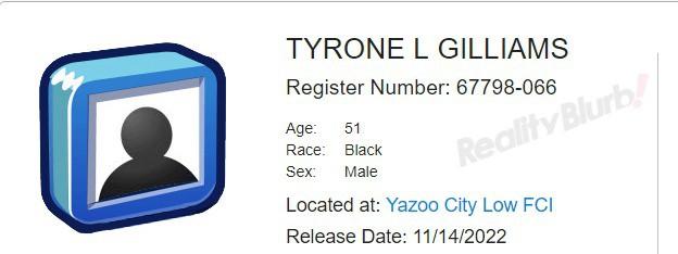 tyrone gilliams prison release date
