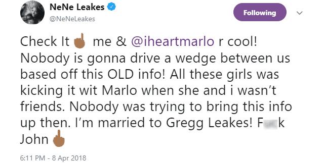 NeNe Leakes on Twitter Marlo