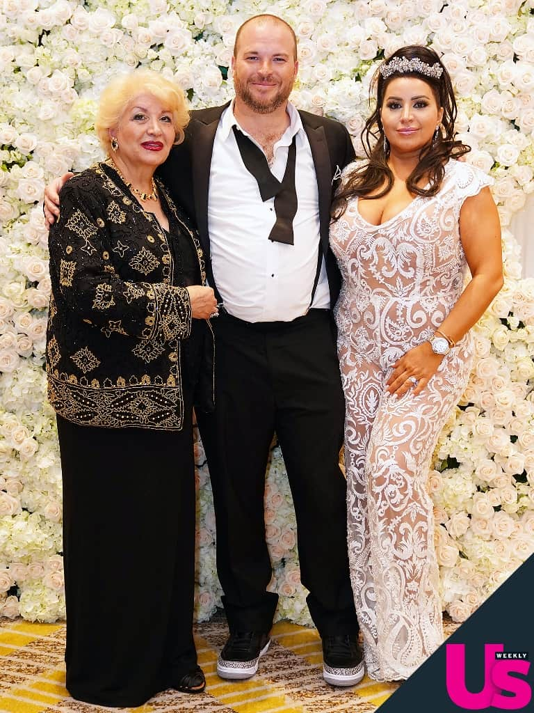 Shahs of Sunset Mercedes MJ Javid wedding jumpsuit Tommy Feight and Vida Javid