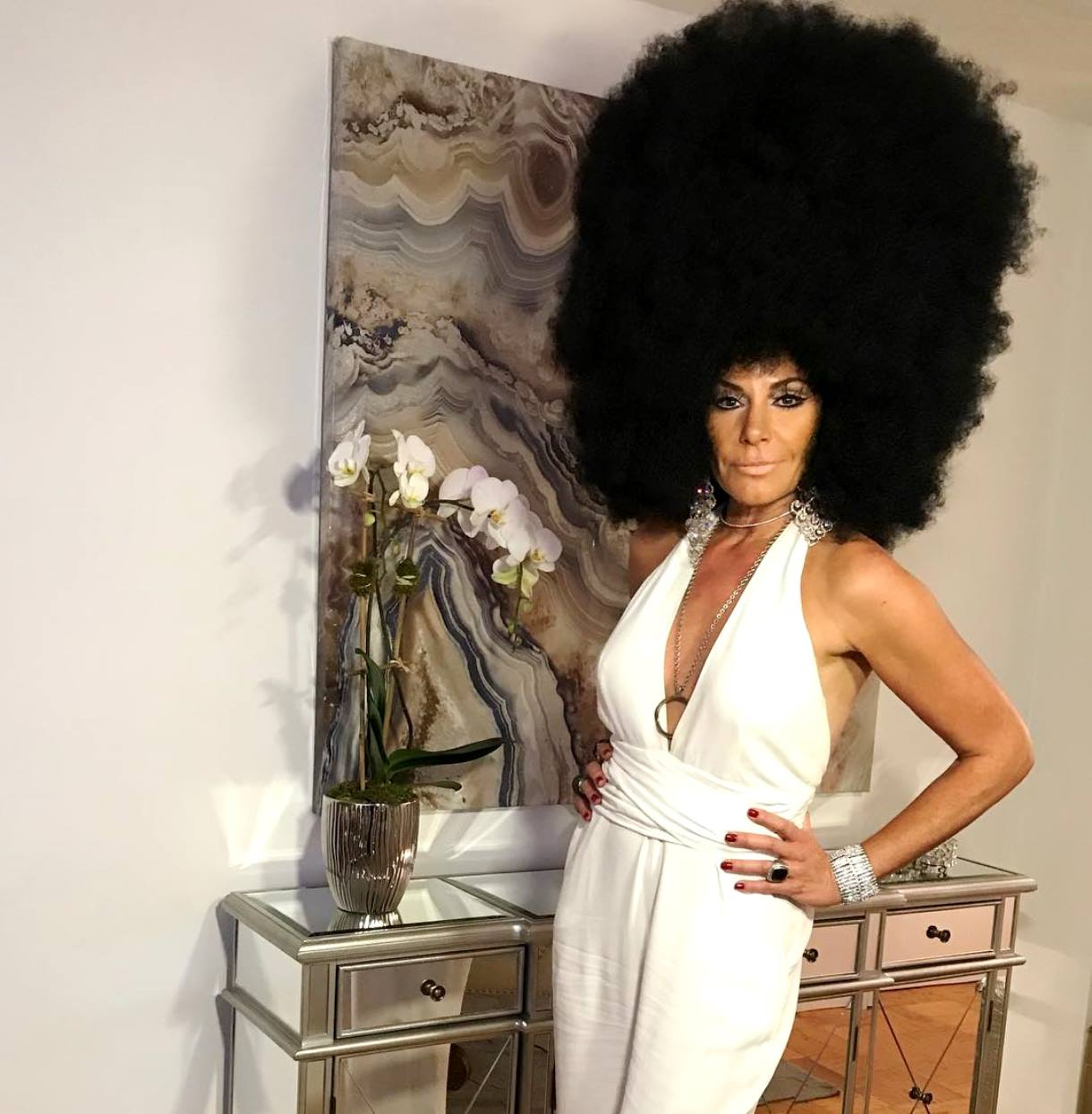 luann de lesseps diana ross costume black face accusations