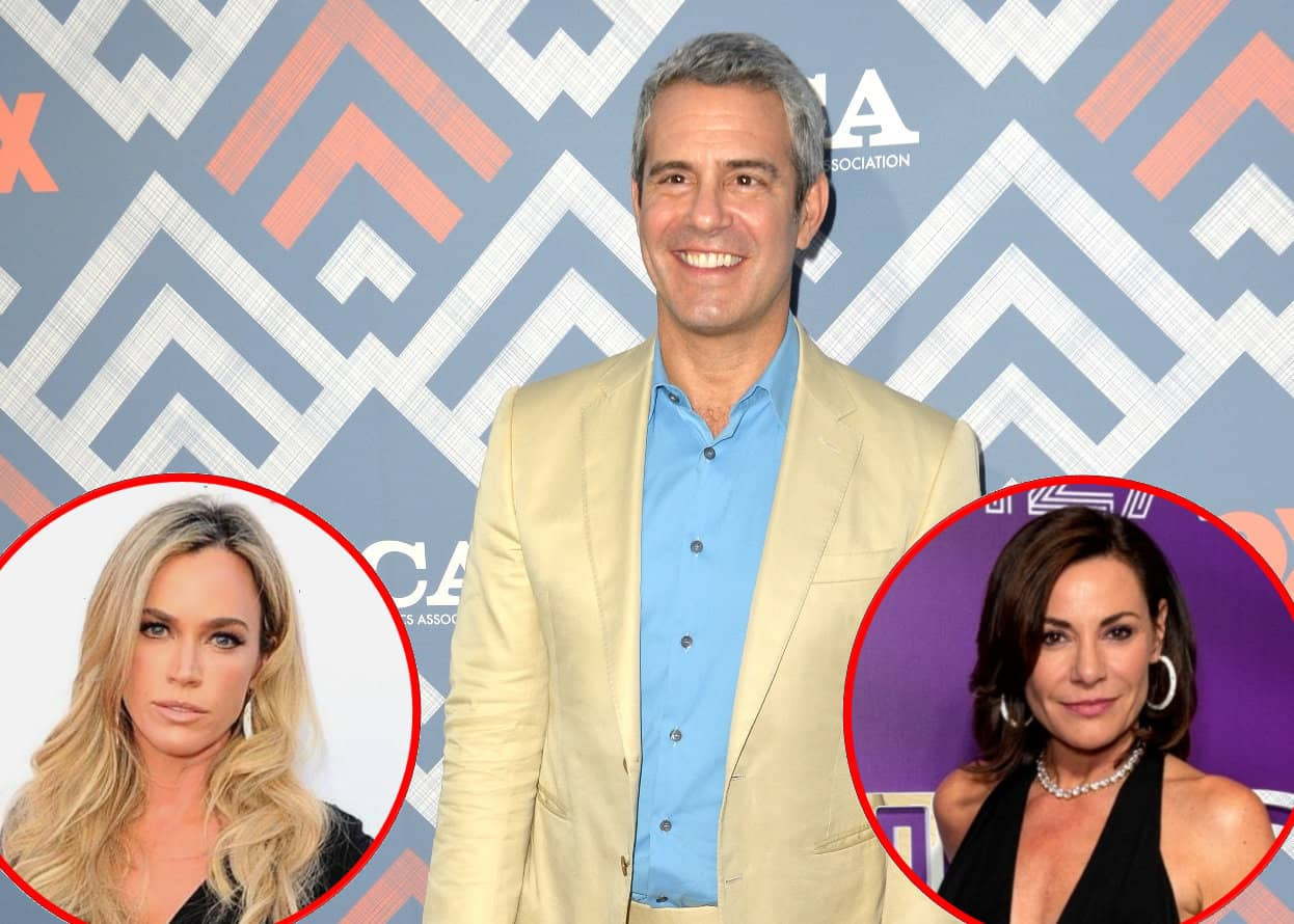 Andy Cohen Luann de Lesseps and Teddi Mellencamp