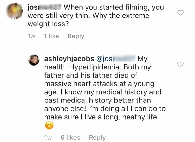 Ashley Jacobs Weight Post