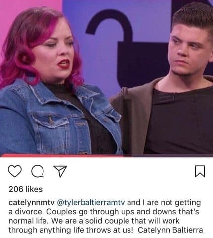 Catelynn defends marriage