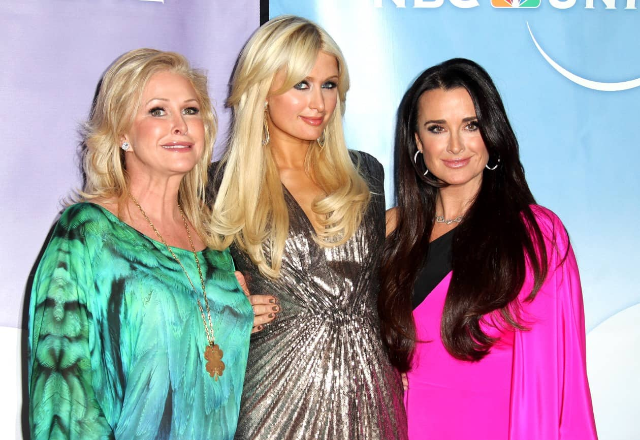 Kathy Hilton, Paris Hilton and Kyle Richards