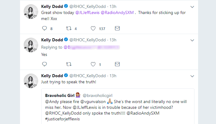 Kelly tweets