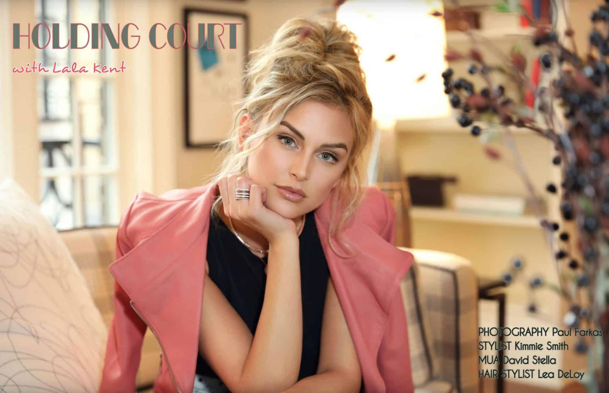 Lala Kent Athleisure Magazine Pink Blazer