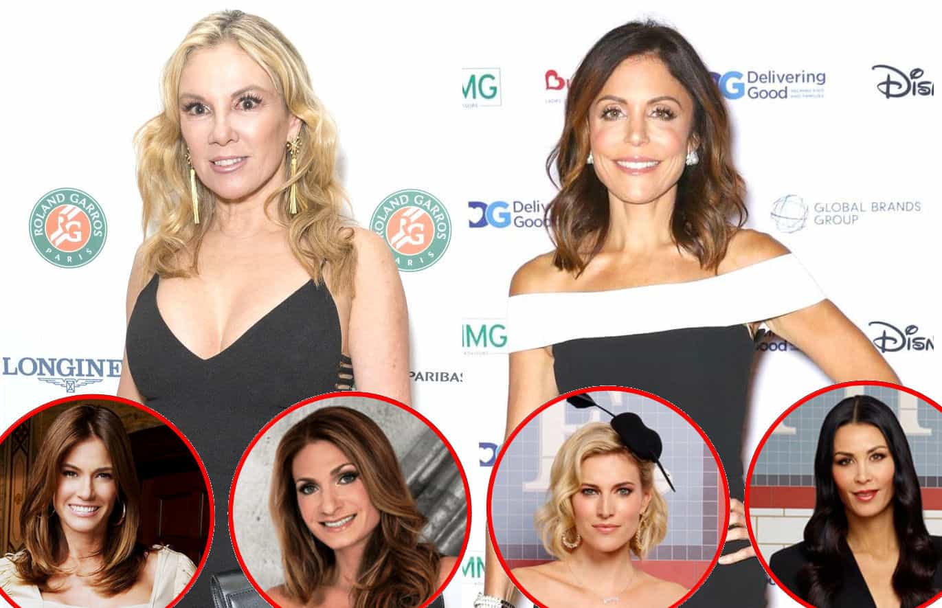 RHONY Ramona Singer Bethenny Frankel plus Kelly Bensimon Heather Thomson Kristen Taekman and Jules Wainstein