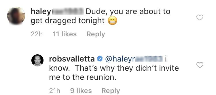 Why Rob Valletta Did Not Attend Reunion
