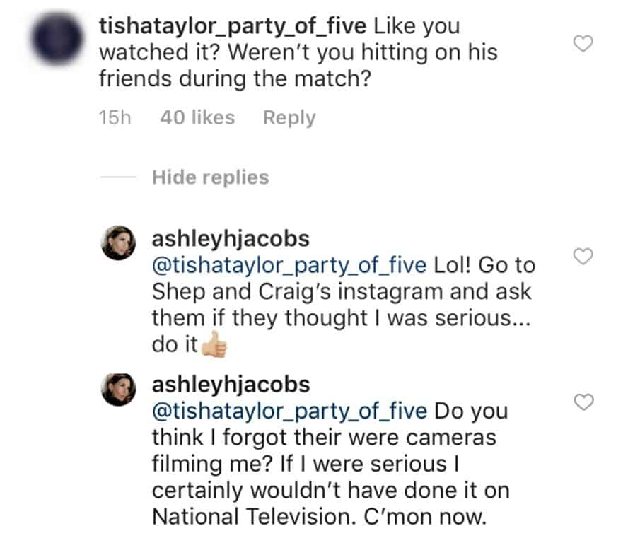 Ashley posts Craig and Shep