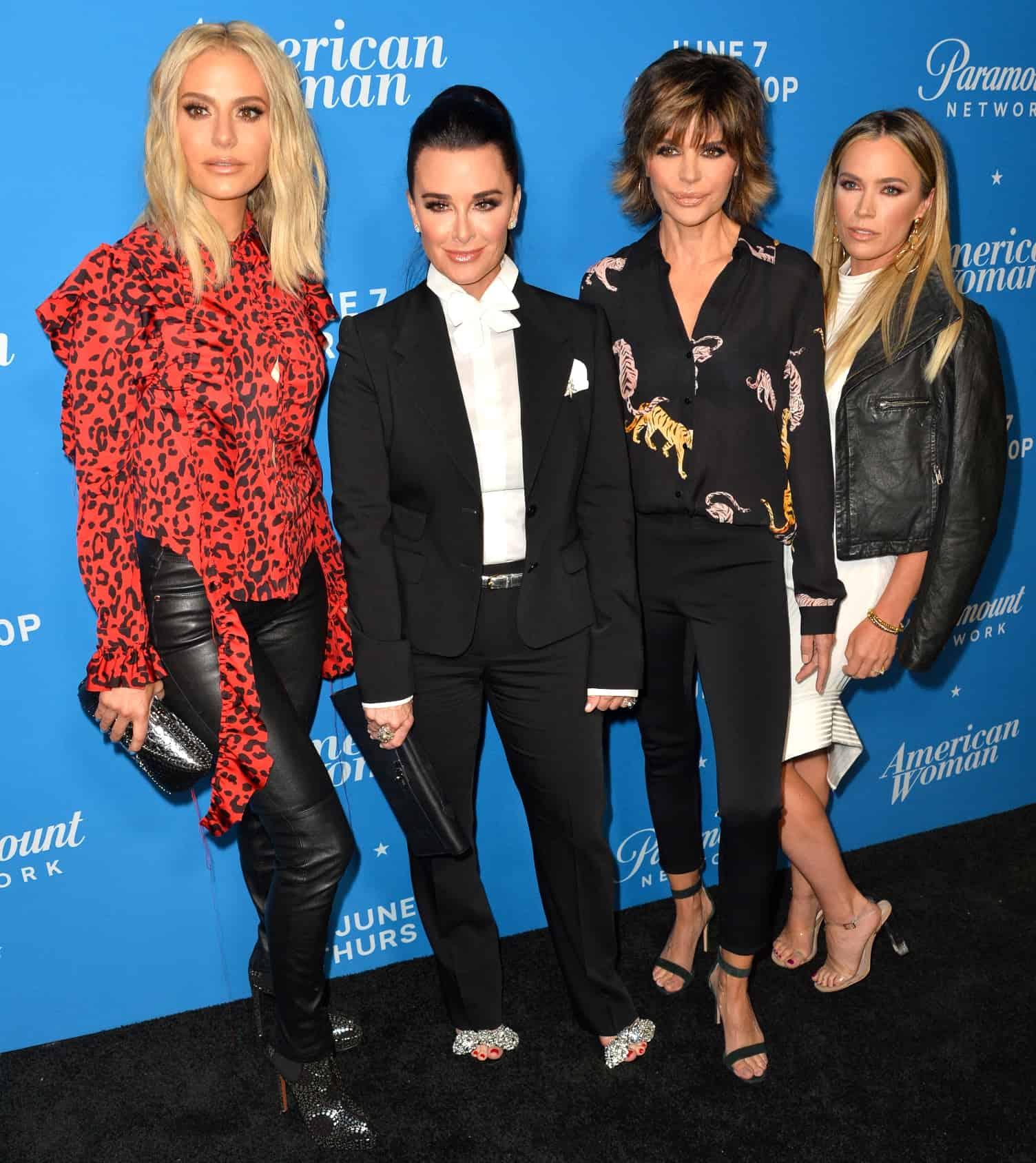 Dorit Kemsley, Kyle Richards, Lisa Rinna & Teddi Mellencamp at the premiere party for American Woman at the Chateau Marmont