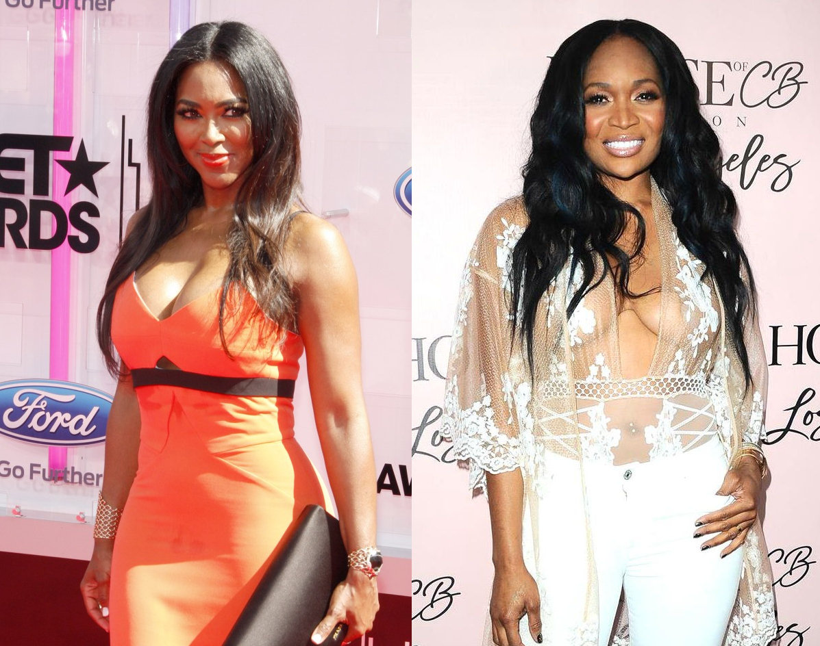 RHOA Kenya Moore and Marlo Hampton