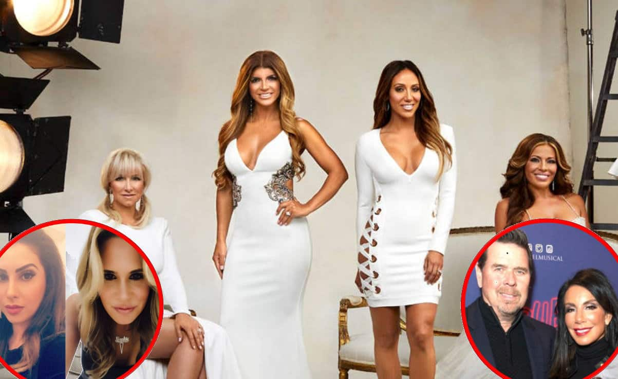 RHONJ cast with Jennifer Aydin Jacqueline Goldschneider and Danielle Staub