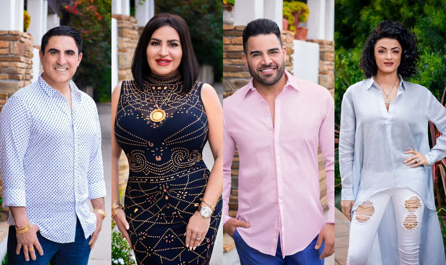 Shahs of Sunset Season 7 Cast Photo - Reza, MJ, Mike, and GG