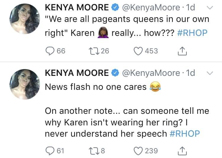 Kenya Moore Disses Karen Huger
