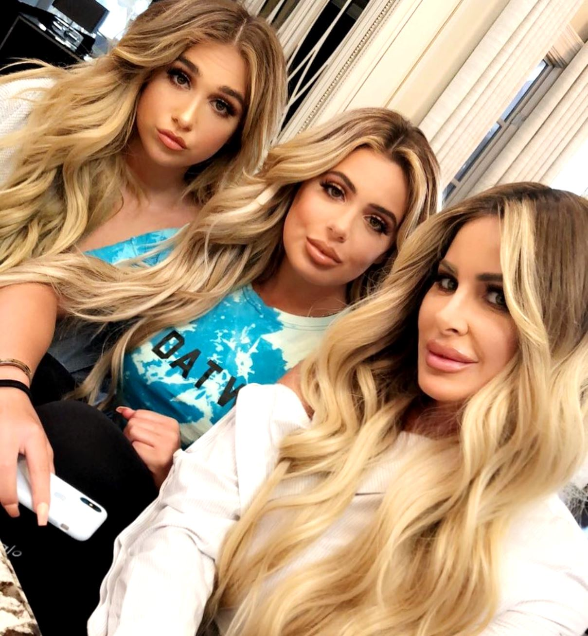 Kim Zolciak Biermann daughters Ariana and Brielle Selfie Plastic Surgery Rumors