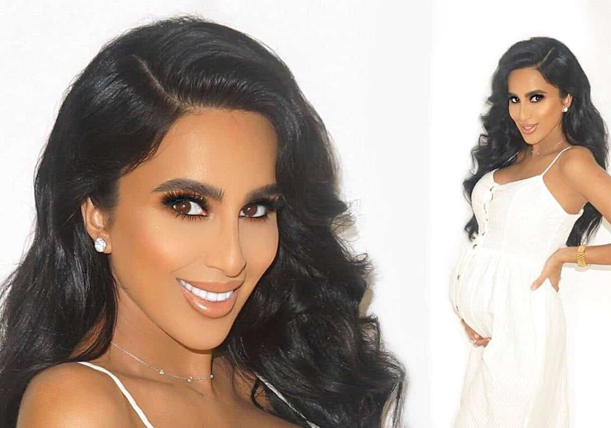 Shahs of Sunset Lilly Ghalichi Mir maternity photo shoot