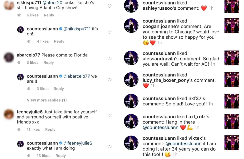 Luann rehab posts