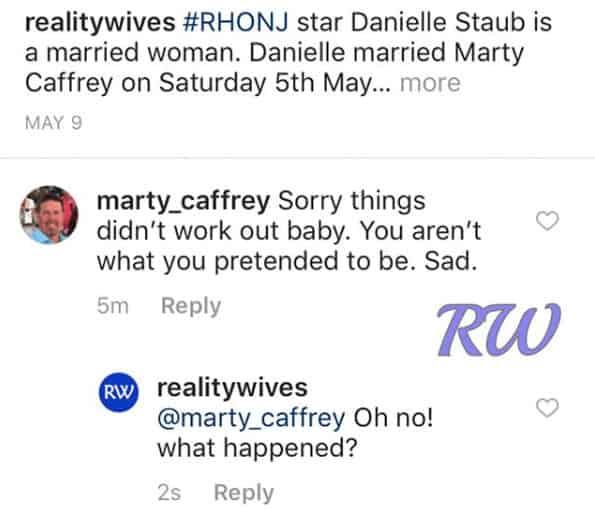 RHONJ Marty Caffrey Reveals Danielle Staub Divorce