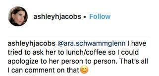 Southern Charm Ashley Jacobs Apology To Kathryn Dennis
