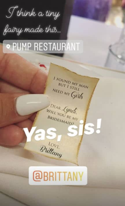 Pump Rules Brittany Cartwright Bridesmaid Invitation