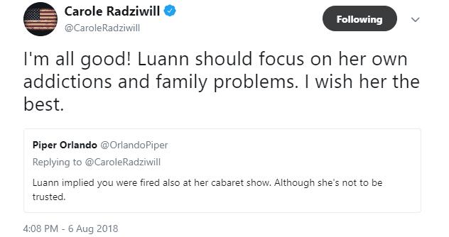 Carole tweet about Luann