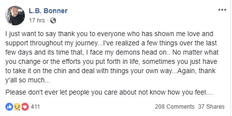 James L B Bonner Facebook Message