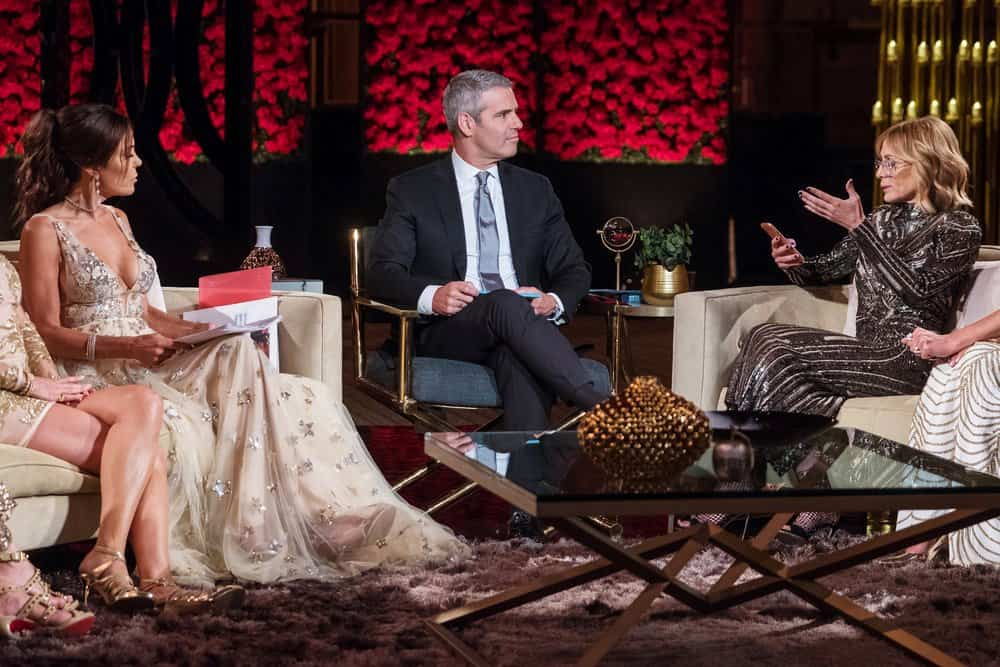 THE REAL HOUSEWIVES OF NEW YORK CITY Reunion Bethenny Frankel, Andy Cohen, Carole Radziwill