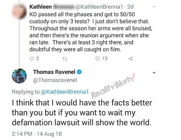 Thomas Ravenel Threatens Defamation Lawsuit