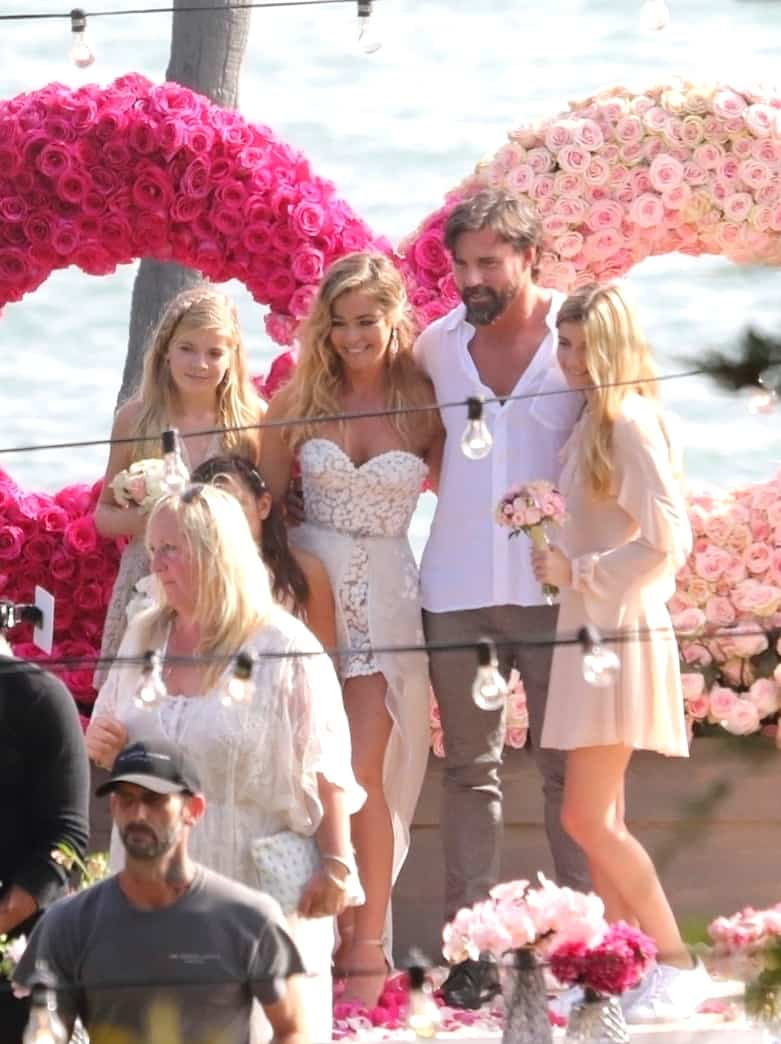 Denise Richards Wedding Dress Husband Aaron Phypers